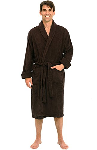 Alexander Del Rossa Mens Turkish Terry Cloth Robe, Thick Bathrobe, 3XL 4XL Chestnut Brown (A0106CNT4X) (Cloth Robes Terry Turkish)