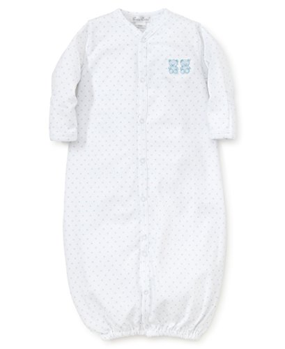 Kissy Kissy Baby-Boys Infant Beloved Bears Convertible Gown-White Blue-Newborn