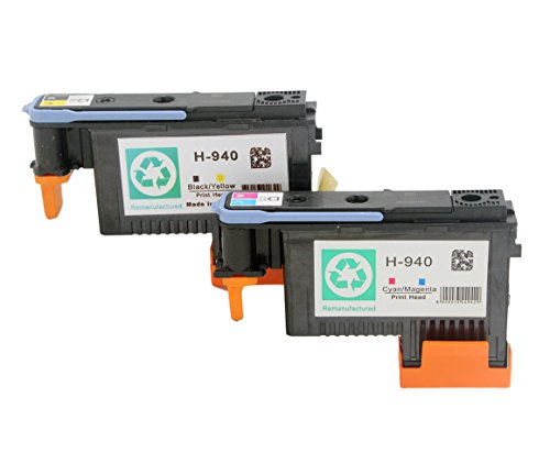 RIGHTINK 2 PACK 940 Printhead Replacement for HP940 Printhead C4900A C4901A For HP officejet pro 8000 8500 8500A 8500A plus 8500A premium