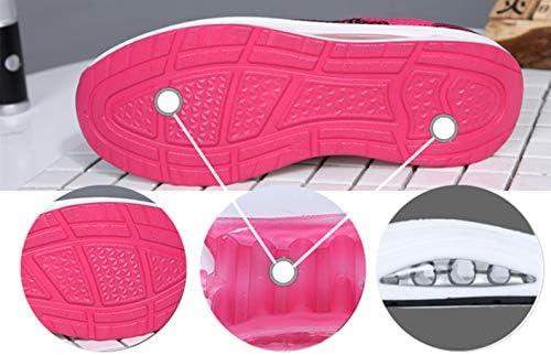 Chaussures de Sport Femme Plateforme Running Baskets Compensée Mesh Fitness Sneakers de Course Air Talon 5cm - Violet-1 - Taille 37 EU(Taille fabricant 38)