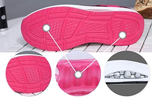 Morado Negro Rosa Sneakers 39 1 Tacón Los Zapatillas Cuña por Zapatos 5cm De Plataforma Calzado Cordones Tome Deporte Malla 34 Con Tamaño Mujer La Reciba Cuando Estándar Blanco Air Correr Para Favor Como Paquete Etiqueta Morado Del Ba8qTB1