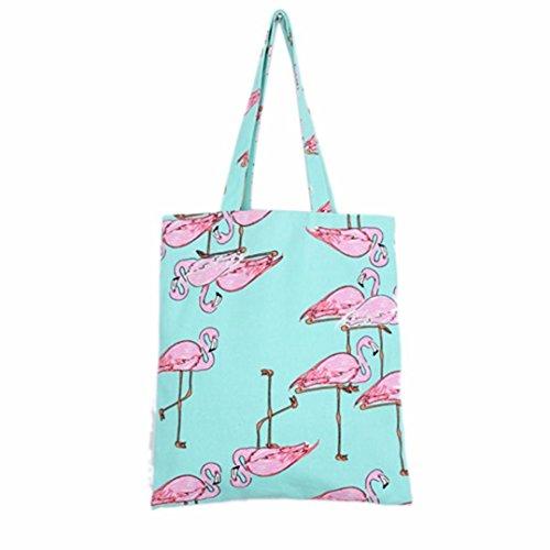 """SMYTShop Women Flamingos Shoulder Bag Backpack Shopping Bag Travel Bag 14.9""""×12.9"""""""