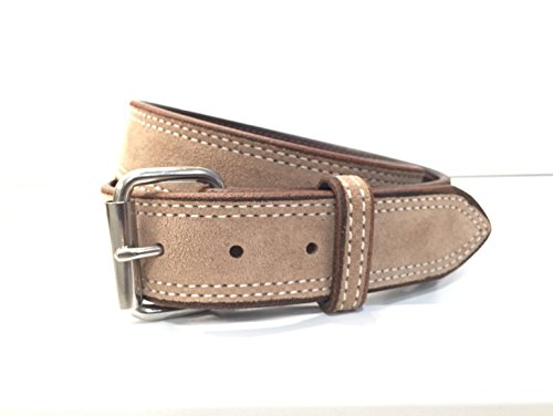 Genuine Suede 1.5 inch wide Belt - MADE IN AMERICA (Small, Taupe)