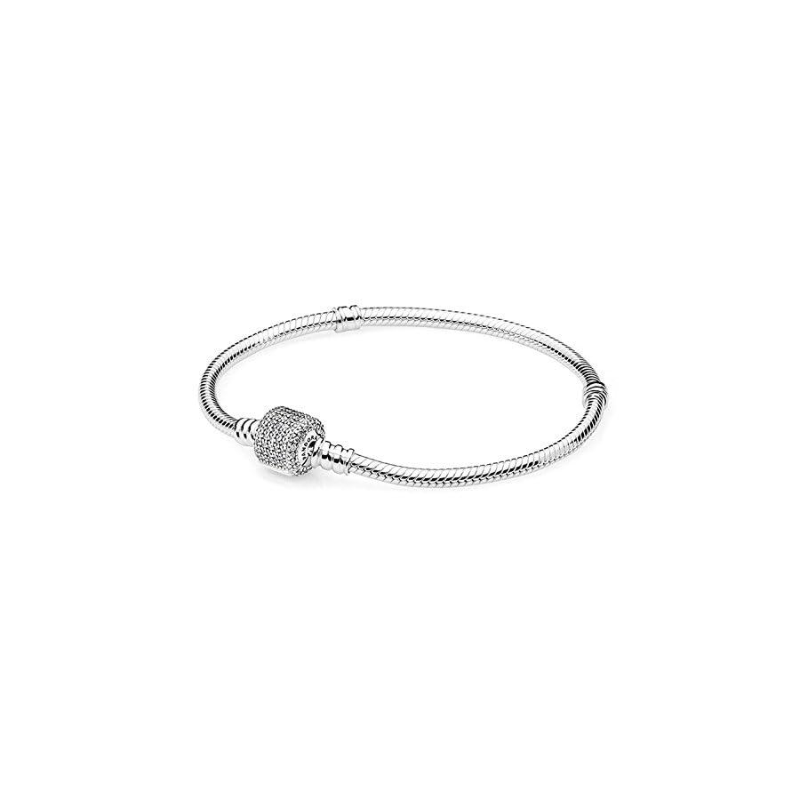PANDORA Sterling Silver Barrel Clasp Bracelet 590723CZ