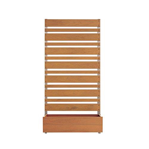 ガーデンフェンス 木製 日本製 高さ180cm 3cm間隔 ボックス付き/ライトブラウン B01MAWATHL ライトブラウン ライトブラウン