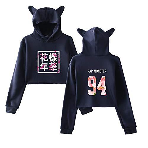 Breve Di Moda Comode Sweatshirts Cute Donna Allentato Casual Orecchie Felpe Cappuccio Sportive Bts Gatto Con 5nIIqxO4