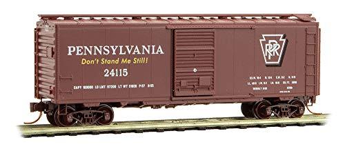 Micro-Trains MTL N-Scale 40ft Box Car Pennsylvania Railroad/PRR Keystone #24115