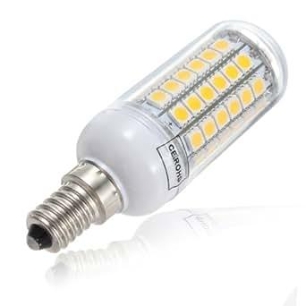 4X E14 5.5W cálido Blanco 828LM 69SMD 5050 LED bombilla del maíz 220V