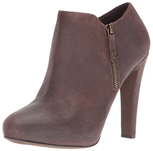 Nine West Women's Binnie Ankle Bootie Dark Brown a2T4U2sY