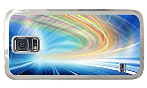 Hipster uncommon Samsung Galaxy S5 Cases glow motion lines PC Transparent for Samsung S5