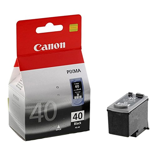 Canon New OEM PG-40 Black Pigment Ink Tank Cartridge Part # PG-40, Canon FAX-JX200/ PIXMA iP1300/ PIXUS MP460 ()