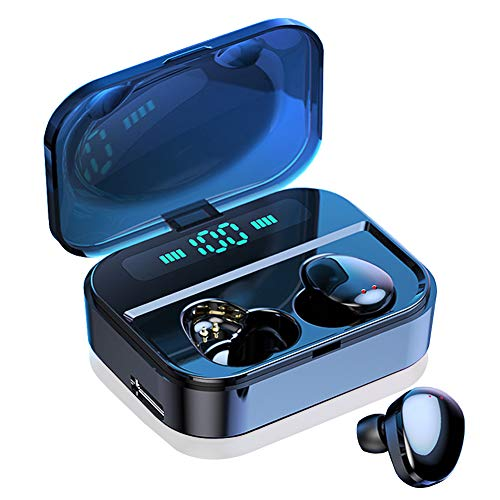 Wireless Earbuds Bluetooth 5.0 Earbuds TWS Fingerprint Touch Bluetooth Earphone X7 Mini IPX7 Waterproof Headphones 30M Bluetooth Transmission Distance 2200mAh Charging Box (Black) (Touch Ultra Small Wireless Bluetooth 5-0 Earbuds)