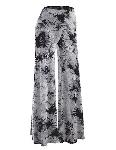 Made By Johnny MBJ WB1060 Womens Chic Tie Dye Palazzo Pants XXXL ()