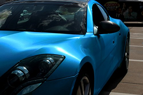 Vvivid Metallic Blue Brushed Metal Vinyl Wrap Roll Xpo Air