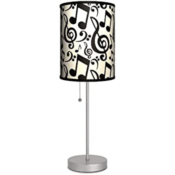 Music - Musical Notation Sport Silver Lamp