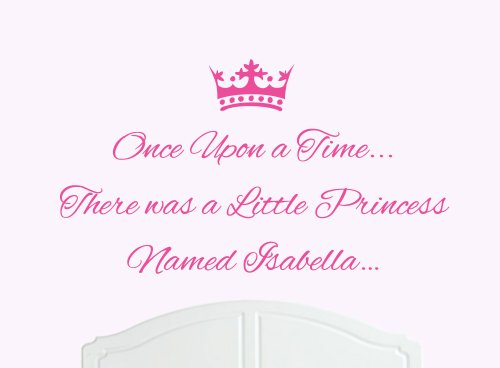 Once Upon a Time Princess Isabella Large Wall Sticker / Decal Bed Room Art Girl / Baby Nursery (Isabella Baby Furniture)