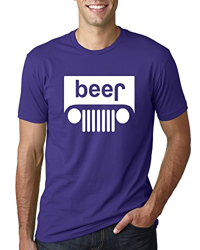 Wild Bobby Beer Logo | Cars and Trucks Parody Humor Alcohol | Mens Drinking Tee Graphic T-Shirt, Purple White, Large