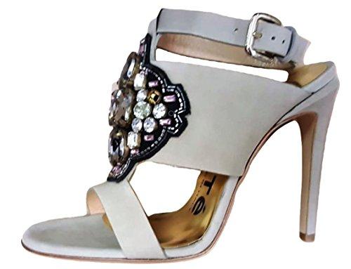 Beige Beige de 'Sandalias mujer moda para KALLISTE ZWwqXgFI