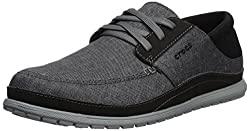 Crocs Men's Santa Cruz Playa Lace M Sneaker, Slate Greylight Grey, 10 M Us