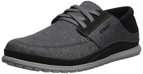 Crocs Men's Santa Cruz Playa Lace Sneaker, Slate Grey/Light Grey, 12 M US