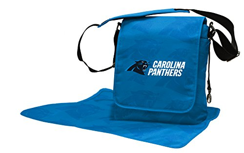 Wild Sports NFL Carolina Panthers Messenger Diaper Bag, 13.25 x 12.25 x 5.75-Inch, Black by Wild Sports