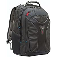 """Wenger 600637 CARBON 17"""" MacBook Pro Backpack , Padded laptop compartment with case stabalising platform in Black {24 Litres}"""