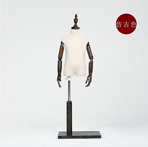 BEIYANG Child Mannequin Torso Dress Form Display Stand Designer Pattern (Retro, 8T) by BEIYANG
