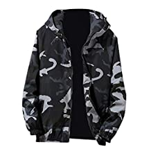 Clearance!!Mens Sport Hoodies-Autumn Winter Zip Camouflage Long Sleeve Pocket Jacket Coat