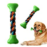 1pcs Puppy Dog Pet Toy Cotton Braided Bone Rope Chew Knot Toy Bone Rope 18 x 5cm