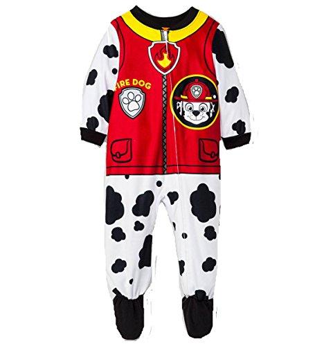 6e63fb96b PAW PATROL Boy s Marshall Fire Dog Fleece Footed Pajama Sleeper ...