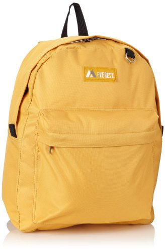 Everest Classic Backpack, Yellow, One