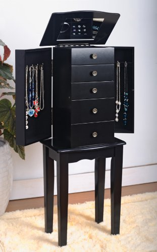 Amazoncom Black Jewelry Armoire Chest Kitchen Dining