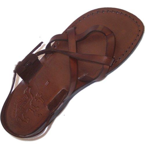 Unisex Genuine Leather Biblical Sandals - Jesus -Yashua Style III - EU 39 by Holy Land Market (Image #1)