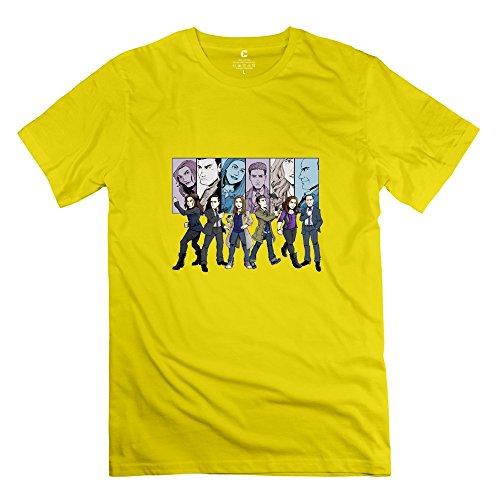Agent Yellow T-shirt (StaBe Men Agents SHIELD SHIELD T-Shirt Short Sleeve Hot Topic XS)