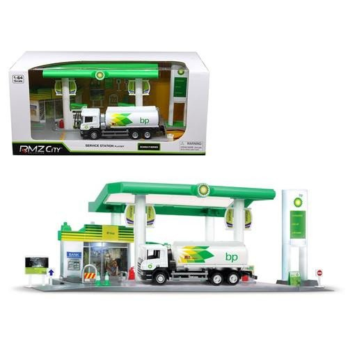 Price comparison product image BP Service Gas Station with Tanker Play Set 1 / 64 by RMZ City 24444-BP