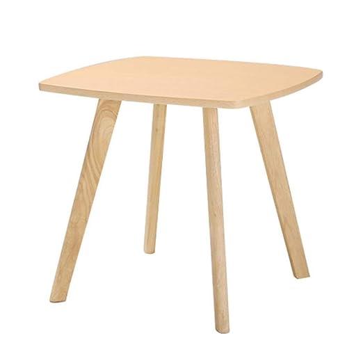ACZZ Mesa auxiliar de sofá, mesa de anidación cuadrada de madera ...