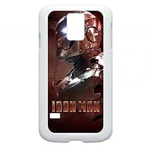 Iron Man-Side Profile-Copper-Samsung Galaxy S5 I9600 - Hard white plastic snap on case.