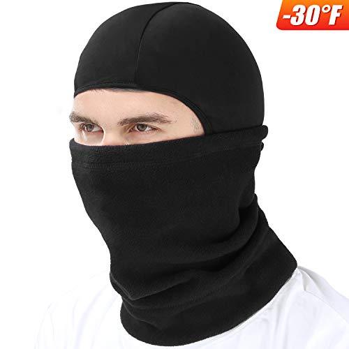 mysuntown Ski Mask Winter Balaclava Face Mask for Motorcycle Cycling Hiking Skiing Outdoor Sports (Black)
