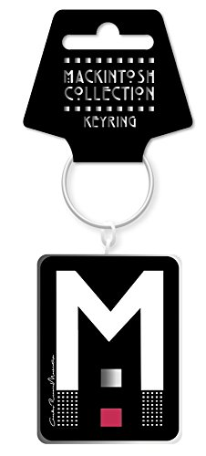 Design Dome Double - Charles Rennie Mackintosh Giant M Design Double Dome Keyring Charm