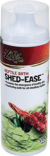 Zilla Reptile Health Supplies Shed-Ease Bath, 8-Ounce