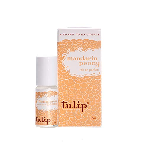 (Tulip Perfume Classic Roll On Eau De Parfum, Mandarin Peony, 0.6 Ounce)