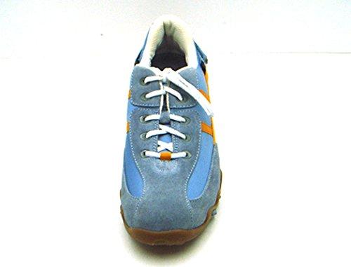 blu Donna Pelle Da Sneaker Plantare Mephisto Scarpe Tessile Allrounder Intercambiabile Blu Angebo Scamosciata ATwq7gT