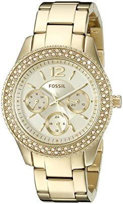 Fossil Women s Stella Goldtone Stainless Steel Bracelet Watch with Tonal Dial