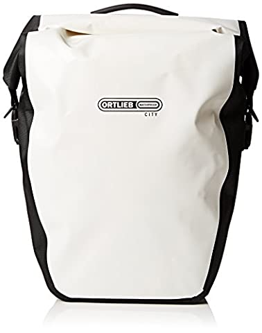 Ortlieb Back-Roller City Rear Pannier: Pair; White/Black
