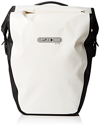 Ortlieb Back-Roller City Rear Pannier: Pair; White/Black -  F5003
