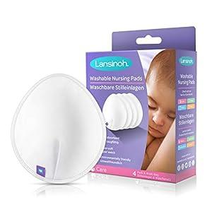 Coussinets d'allaitement lavables Lansinoh x4.