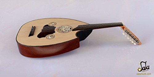Turkish Professional Half Cut Electric Oud Ud String Instrument AOH-301G by Sala Muzik
