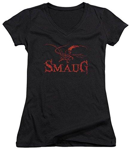 Juniors: The Hobbit: The Desolation of Smaug - Dragon V-Neck Juniors (Slim) T-Shirt Size M