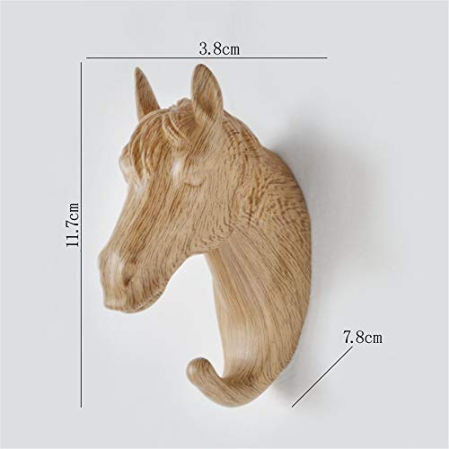 Fhing Horse Head Single Wall Hook/Hanger Animal Shape Coat Hook Heavy, Antique, Decorative Gift, Black