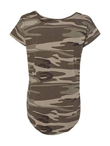 Camuflaje Camiseta Mujer Para Caqui Alternative q6t07aw